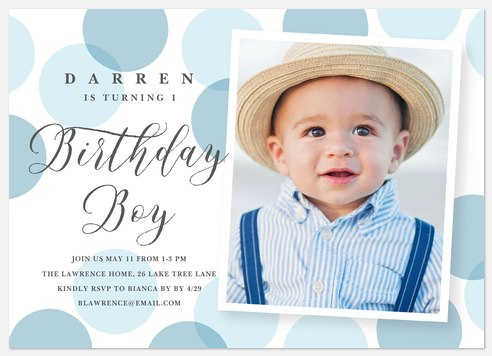 Giant Confetti Kids' Birthday Invitations