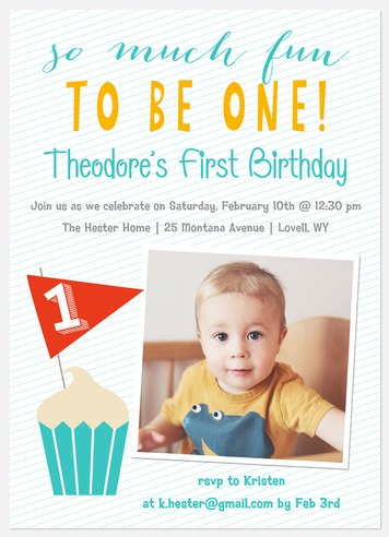 Fun One Kids' Birthday Invitations