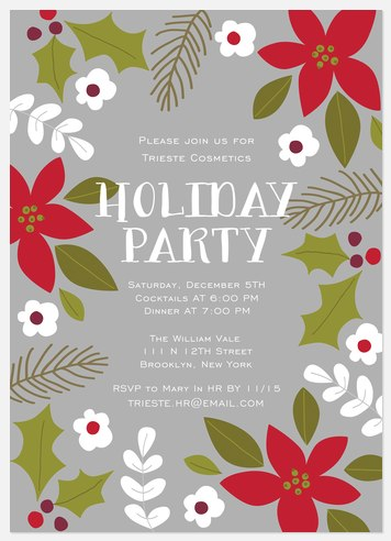 Blooming Jubilee Holiday Party Invitations