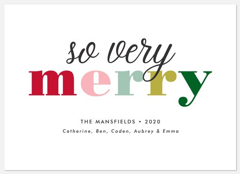Sweet Merry Holiday Photo Cards