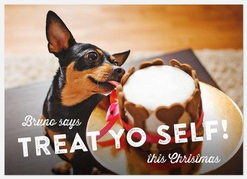 Treat Yo Self Holiday Photo Cards