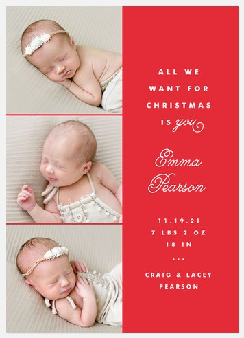All We Want Holiday Photo Cards