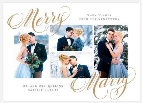 Merry Marry Holiday Photo Cards