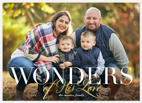 Wonders Holiday Photo Cards