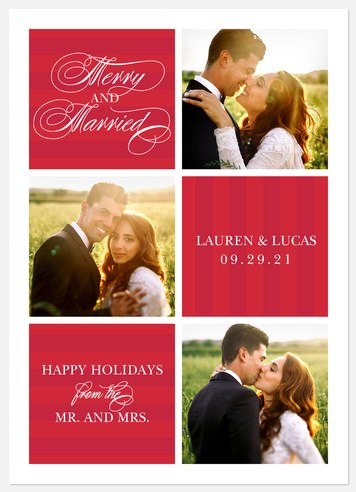 Married Snapshots Holiday Photo Cards