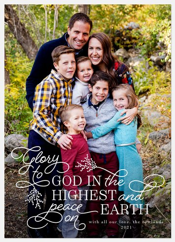 Glory in the Highest Holiday Photo Cards