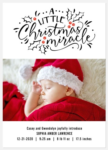 Christmas Miracle Holiday Photo Cards