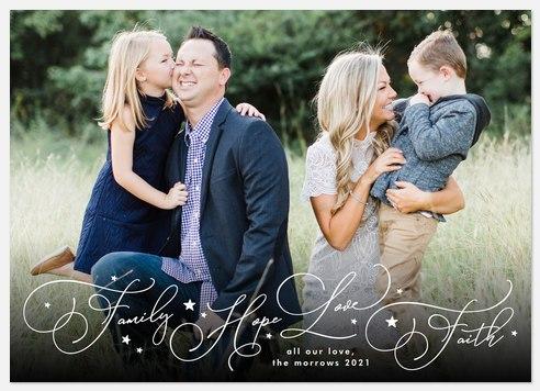 Faithful Starlight Holiday Photo Cards