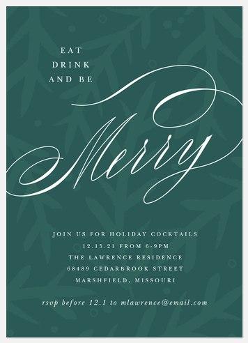 Woodland Gathering Holiday Party Invitations