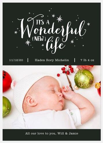 Wonderful (New) Life Holiday Photo Cards