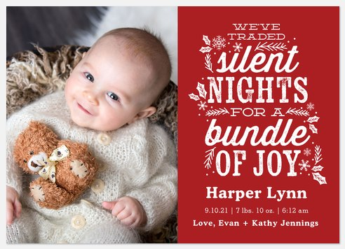Rustic Bundle Holiday Photo Cards
