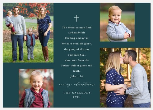 Favorite Scripture Holiday Photo Cards