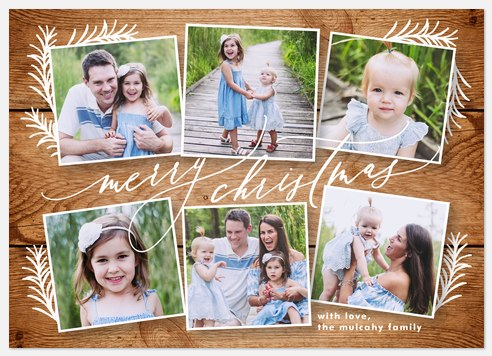 Rustic Snapshots Holiday Photo Cards