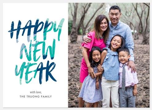 New Strokes Holiday Photo Cards