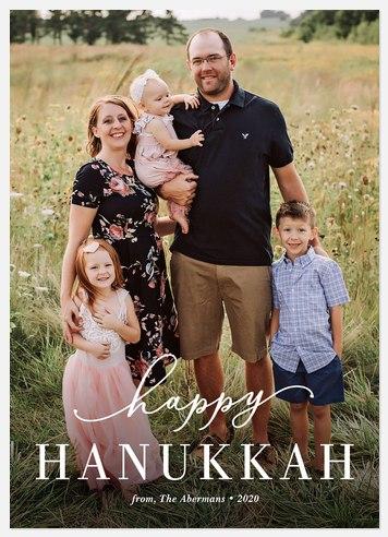 Modern Hanukkah Hanukkah Photo Cards