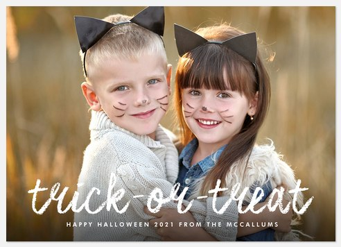 Whimsy Trick Halloween Photo Cards