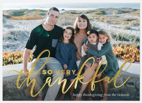 Golden Gratitude Thanksgiving Cards