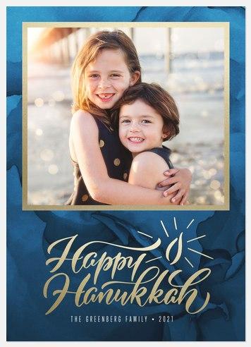 Candlelight Hanukkah Photo Cards