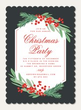 christmas party invitations christmas invitations simply to impress