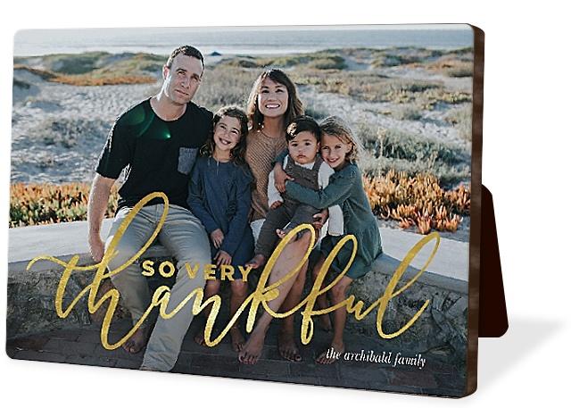 Golden Gratitude Photo Easel Panels
