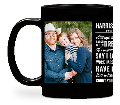 Family Rules Custom Mugs