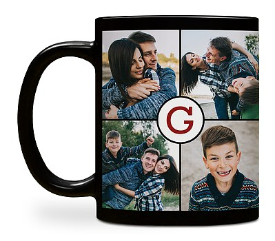 Monogram Grid Custom Mugs