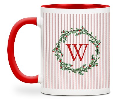 Winter Monogram Custom Mugs