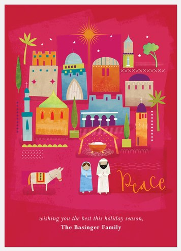 Peace in Bethlehem Holiday Photo Cards