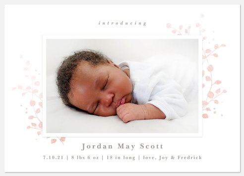 Spring Mist Baby Birth Announcements