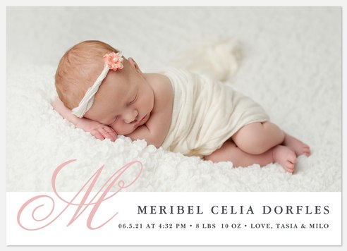 Uptown Charmer Baby Birth Announcements
