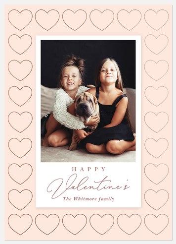 Modern Blush Valentine Photo Cards