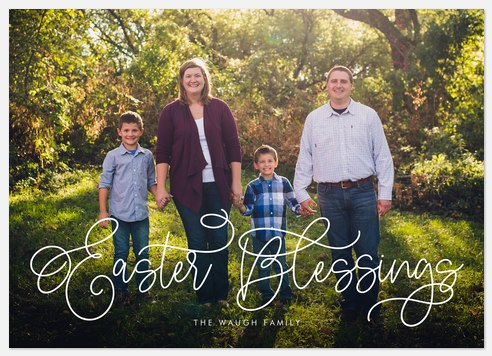 Fanciful Blessings Easter Photo Cards