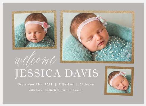 Sparkling Gallery Baby Birth Announcements
