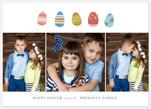 Painted Eggs Easter Photo Cards