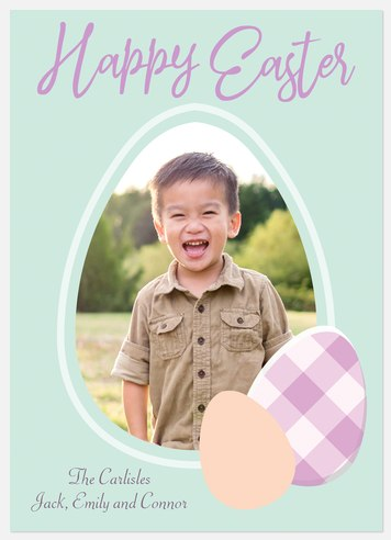 Easter Eggs Easter Photo Cards