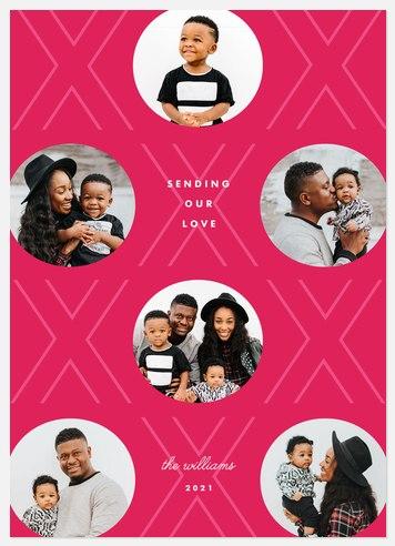 Valentine Pattern Valentine Photo Cards