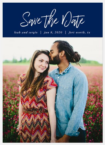 Hand-Written Save the Date Photo Cards