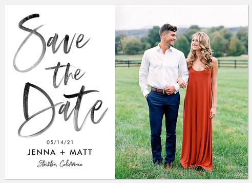 Boho Vibes Save the Date Photo Cards