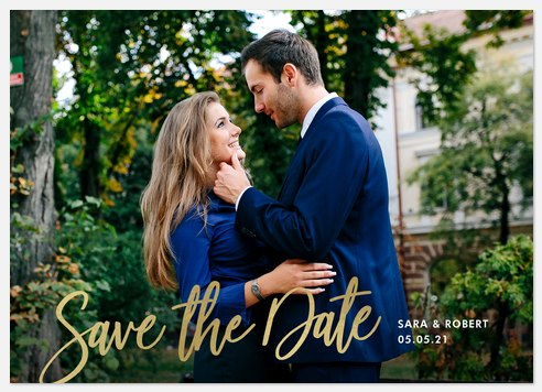 Shimmering Message Save the Date Photo Cards