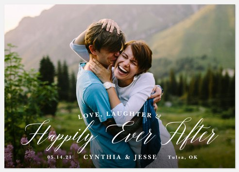 Love & Laughter Save the Date Photo Cards