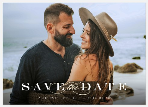 Classic Serif Save the Date Photo Cards