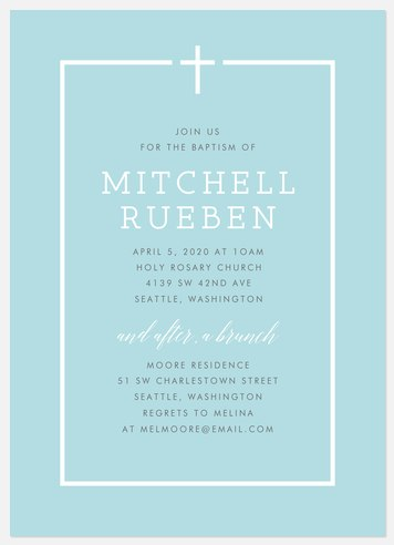Simply Divine Baptism Christening Invitations