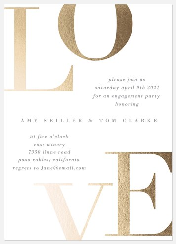 Bold Love Engagement Party Invitations