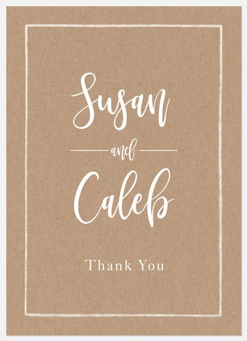 Calligraphic Kraft Thank You Cards