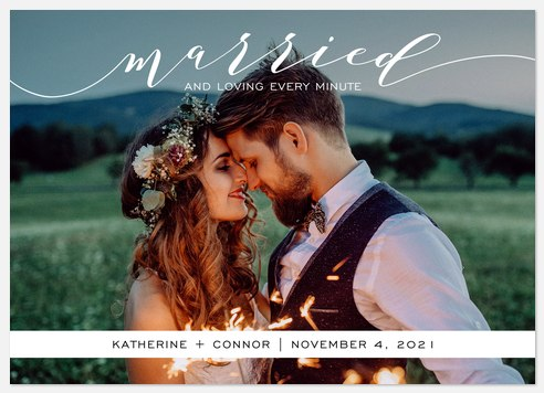 Calligraphic Band Wedding Announcements