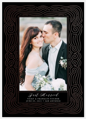 Swirling Dots Wedding Announcements