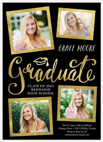Fun Shimmer Graduation Cards