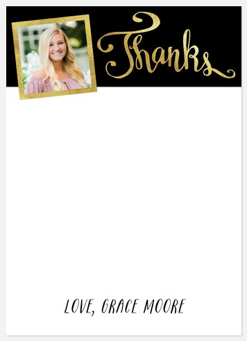 Fun Shimmer Thank You Cards