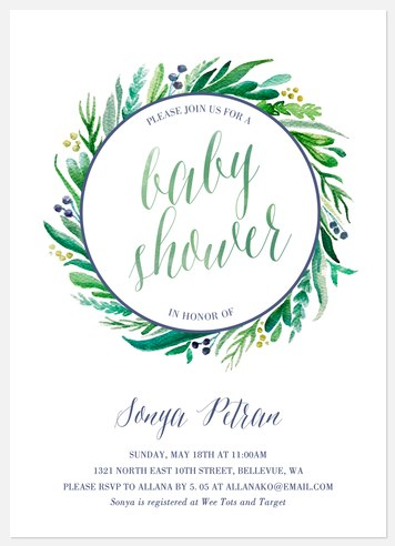 Lovely Leaves Baby Shower Invitations