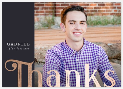Scholarly Year Thank You Cards